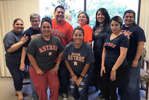 Diagnostic Eye Team Wearing Astros Shirts