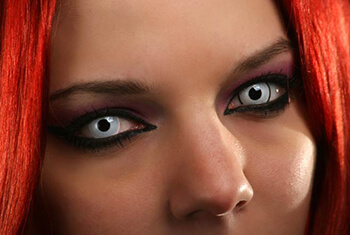 Woman with Color Contacts
