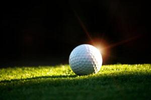 Golf Ball in the light
